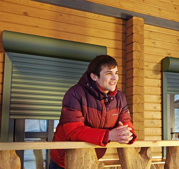 Рольставни на окна и двери под ключ в Новосибирске